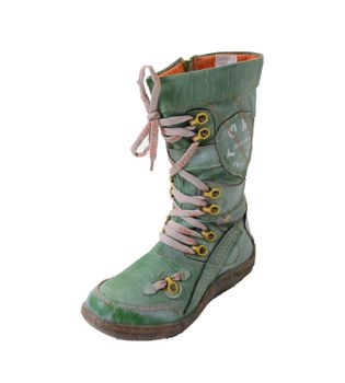 TMA Ladies Leather Boots 16366-5 Green