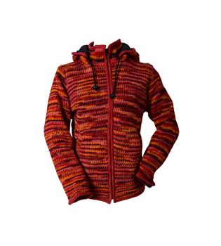 Wool Jacket Hippie Goa with Detachable Elfin Hood – Bild 1