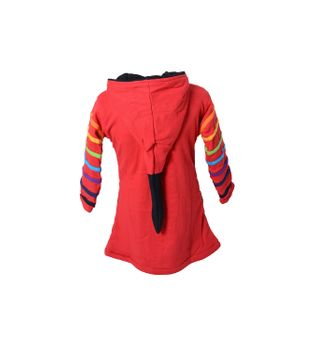 Funny Gnome Jacket with Hood in Red and Rainbow Colors – Bild 2