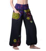 Kunst und Magie Damen IBIZA Strandhose Wellnesshose in verschiedenen Farben 001