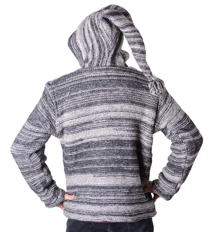 herren baja nepal strickjacke poncho pullover wolle mit. Black Bedroom Furniture Sets. Home Design Ideas