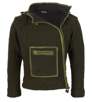 Baja Men's Knit Jacket with Fleece Lining and Elfin Hood