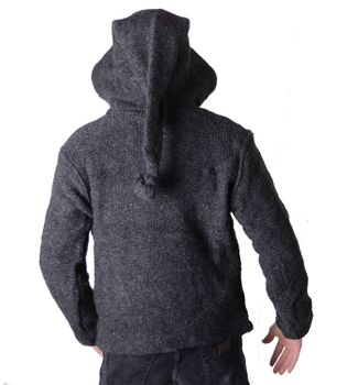 Baja Men's Knit Jacket with Fleece Lining and Elfin Hood – Bild 7