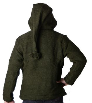 Baja Men's Knit Jacket with Fleece Lining and Elfin Hood – Bild 2