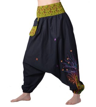 Colorful Women's Harem/ Cotton Pants with Eye-catching Pocket - Goa Wellness Pants – Bild 1