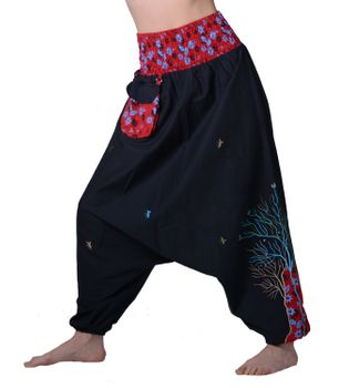 Colorful Women's Harem/ Cotton Pants with Eye-catching Pocket - Goa Wellness Pants – Bild 3