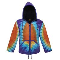 Women's Goa Knit Jacket with Elfin Hood Colorful Hippie Style 001