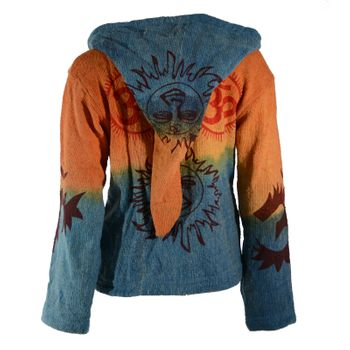 Hippie Om cardigan in a colorful design jacket with detachable elfin hood – Bild 2