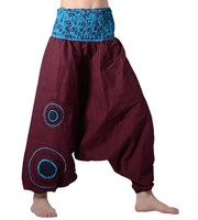 Colorful Women's Harem/ Wellness Pants made from Cotton - Unique Goa Design