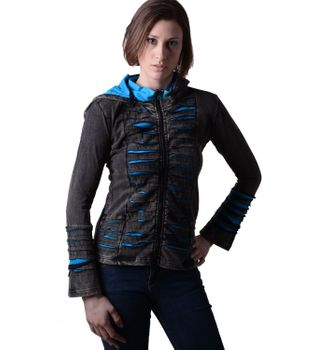 Hippie women's jacket in Razorcut design with detachable elfin hood – Bild 1