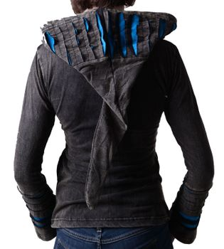 Hippie women's jacket in Razorcut design with detachable elfin hood – Bild 2