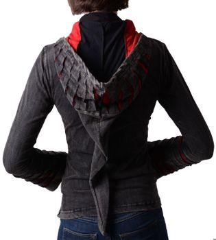 Hippie women's jacket in Razorcut design with detachable elfin hood – Bild 4