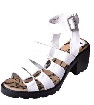 Fly London COHA Damen Sandalette mit Blockabsatz White – Bild 1