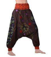 Women harem pants with extravagant flower patterns - Goa Wellness pants