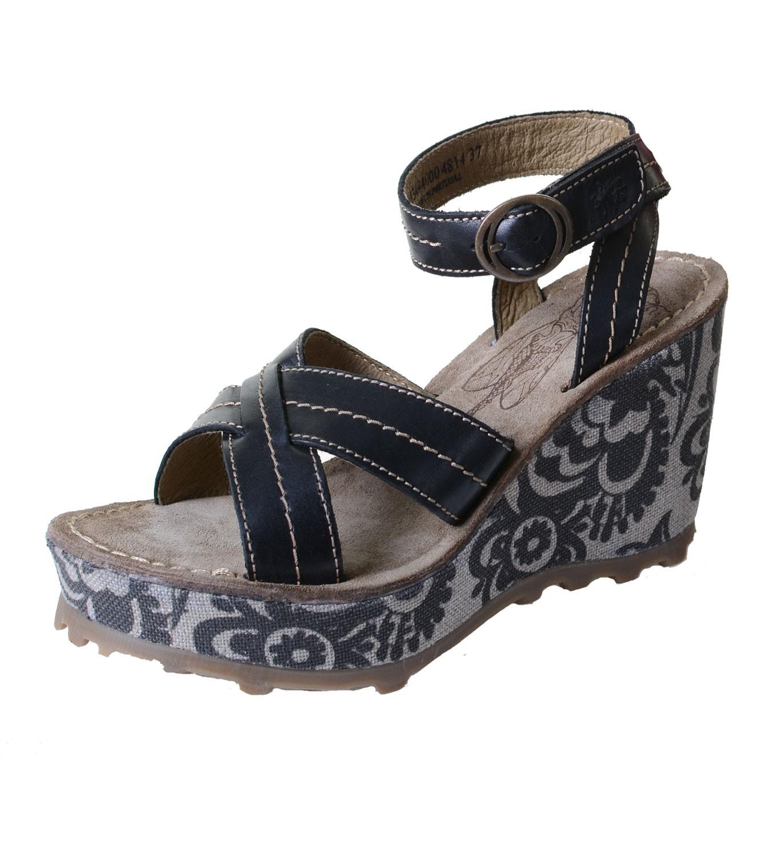 fly london gera damen sandalette mit keilabsatz und. Black Bedroom Furniture Sets. Home Design Ideas