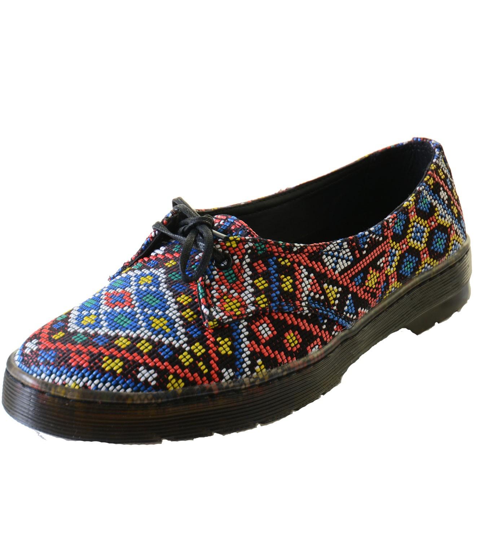 Details about Schuhe Docs Dr. Martens Morada Aztec Weave Sommer Halbschuh Indianer Motiv