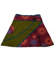 Mini Skirt in Great Summer Colors - Goa Patchwork