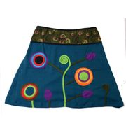 Summer Goa Hippie Mini Skirt - Colorful