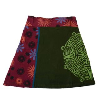 Summer Skirt with Maya Pattern - Short Hippie Skirt – Bild 1