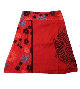 Summer Skirt with Maya Pattern - Short Hippie Skirt – Bild 3