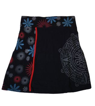 Summer Skirt with Maya Pattern - Short Hippie Skirt – Bild 4