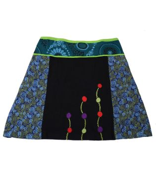 Colorful Patchwork Hippie Mini Skirt with a Stylish Pattern – Bild 8