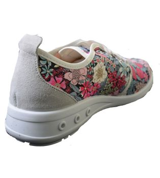 Break & Walk Sneakers with Platform Sole White Flower – Bild 2