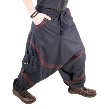 Kunst und Magie Men Goa harem pants in classic colors – Bild 5
