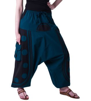 Flamboyant Goa Pants Men with Amazing Dots Hippie Harem Pants – Bild 11