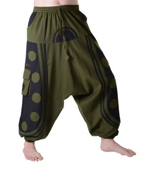 Flamboyant Goa Pants Men with Amazing Dots Hippie Harem Pants – Bild 1