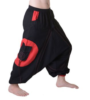 Hippie-Harem Pants Goa with Sprial Patches - Men – Bild 8