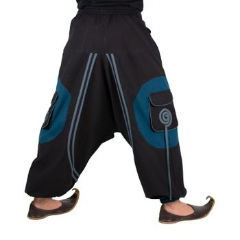 Hippie-Harem Pants Goa with Sprial Patches - Men – Bild 17