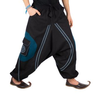 Hippie-Harem Pants Goa with Sprial Patches - Men – Bild 15
