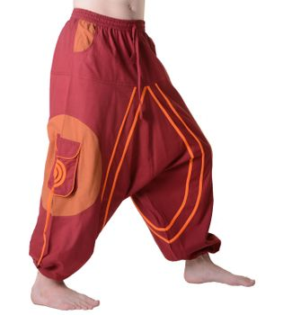 Hippie-Harem Pants Goa with Sprial Patches - Men – Bild 9