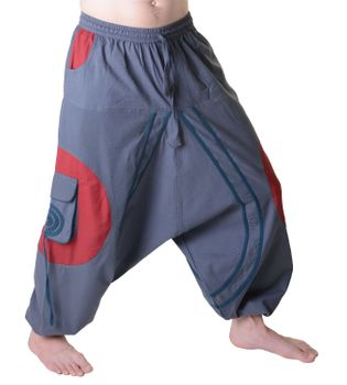Hippie-Harem Pants Goa with Sprial Patches - Men – Bild 7