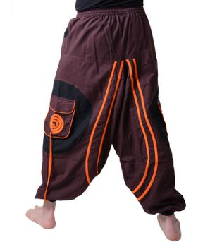 Hippie-Harem Pants Goa with Sprial Patches - Men – Bild 3
