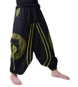 Hippie-Harem Pants Goa with Sprial Patches - Men – Bild 1