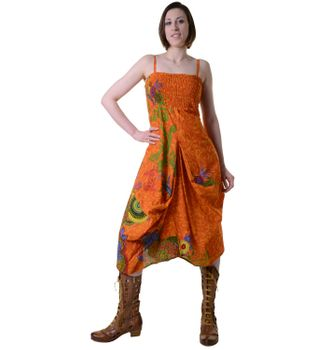 Colorful Goa Summer Dress with Stylish Flower Pattern – Bild 3