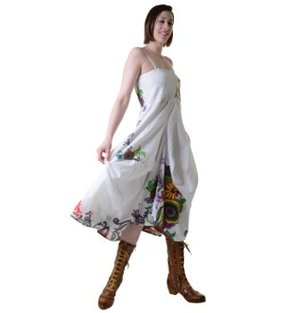 Colorful Goa Summer Dress with Stylish Flower Pattern – Bild 2