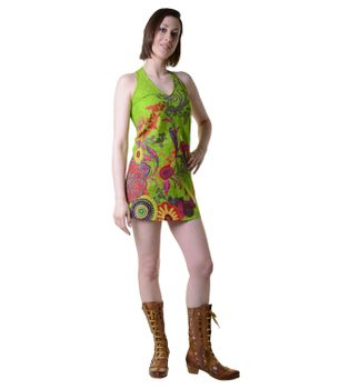 Hippie-Tunic with a Unique Pattern - Summer Dress Longshirt Mini Beach Dress – Bild 4
