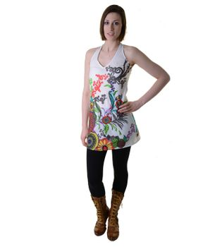 Hippie-Tunic with a Unique Pattern - Summer Dress Longshirt Mini Beach Dress – Bild 19