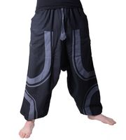 Sarouel Pants for Men-Unique Design Patchwork Harem Pants