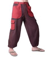 Patchwork Men's Pants in Unique Design - Beach Pants, Casual Pants