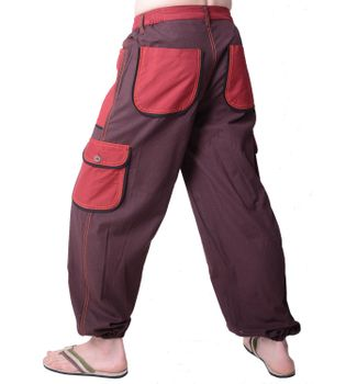 Patchwork Herrenhose in alternativem Design - Freizeithose, Wellnesshose – Bild 3