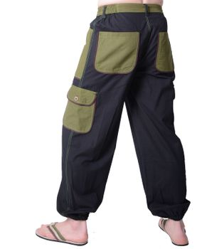 Patchwork Herrenhose in alternativem Design - Freizeithose, Wellnesshose – Bild 6