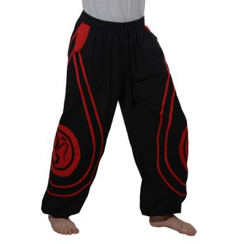 OM Unisex Psy Baggy Pants Hippie Hose Goa Cotton Dance Pants – Bild 3
