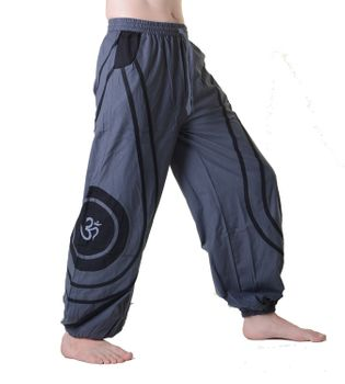 OM Unisex Psy Baggy Pants Hippie Hose Goa Cotton Dance Pants – Bild 15