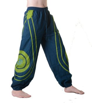 OM Unisex Psy Baggy Pants Hippie Hose Goa Cotton Dance Pants – Bild 10