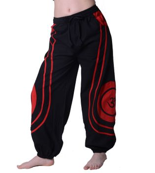 OM Unisex Psy Baggy Pants Hippie Hose Goa Cotton Dance Pants – Bild 4