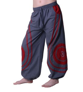 OM Unisex Psy Baggy Pants Hippie Hose Goa Cotton Dance Pants – Bild 1